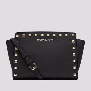 Michael Kors Selma Stud Medium Messenger Bag